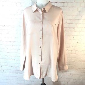 Calvin Klein Button Down Dress Blouse NWOT